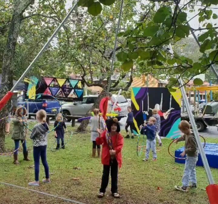 Free Circus Activities at Buskers by the Creek